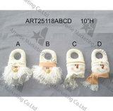 Blanco y día de fiesta derecho Decoration-3asst. del muñeco de nieve del oro