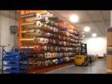 Sistema voladizo resistente del estante del almacenaje usado para salvar el papel grande Rolls