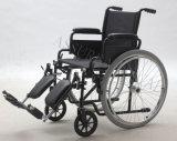 Sillón de ruedas manual de acero funcional, plegamiento y cómodo (YJ-005L-ELR)