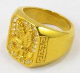 Anel de carcaça suportado da liga da alta qualidade da venda por atacado do anel do aço inoxidável de OEM/ODM para o homem