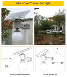 Luz solar de la bola integrada con sensor de protección IP65 e Mirco