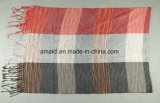 Écharpe carrelée teintée en fil de coton polyester poli (ABF22006105)