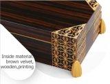 Retro Entwurfs-Luxus, der hölzernen Münzen-Geschenk-Paket-Kasten lackiert