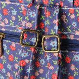 Sacchetto floreale dello zaino dei reticoli della tela di canapa impermeabile del PVC (23261-1)
