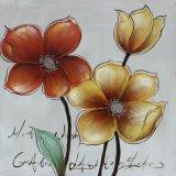 壁の芸術の多彩な花のキャンバスのハンドメイドの油絵
