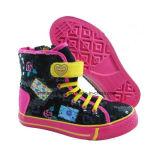 方法子供の中間の切口によって加硫させるズック靴