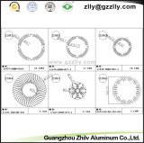 Alliage de radiateur de profil de souffle de sable/d'aluminium en aluminium