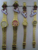 Orologi d'ottone dorati antichi di caso per gli uomini