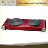 Bec normal Cooktop électrique de double d'acier inoxydable de qualité du GS A13 de la CE