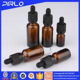 Bottiglia ambrata dell'imballaggio di vetro liquido di E con la pipetta del contagoccia