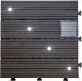 Azulejo de suelo solar al aire libre pulverizado solar del Decking de DIY WPC