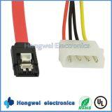 Macho a hembra SATA 7 + 15p a 4p de alimentación Plug and SATA cable 7p
