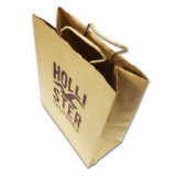 カスタムCmykによって印刷されるショッピング・バッグ、クラフト紙のギフト袋