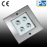 4W CREE LED Plattform Inground Licht, quadratisches Fußboden-Licht