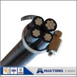 하락 케이블 공중 묶인 케이블에 의하여 뒤틀린 알루미늄 ABC 케이블을 서비스하십시오