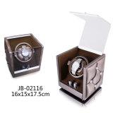 最も新しい木の腕時計の表示デザイン自動回転革Showbox PUの腕時計の巻取り機
