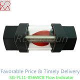 Indicador plástico de acero roscado del flujo de la vista para el agua