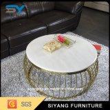 Table basse ronde d'acier inoxydable de constructeur de Foshan