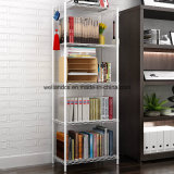 Hot Sale 5 Tiers Sliver Metal Wire Book Rack pour maison / bureau