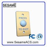 Tecla dourada da saída da porta de Drawingprocessing do fio do painel da liga de alumínio (SB10G)