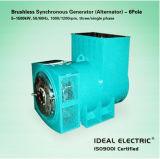 6 polos sin escobillas sincrónico de baja velocidad de las 3 fases del generador (alternador)