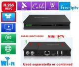 잡종 DVB 조율사와 호환이 되는 인조 인간 텔레비젼 상자 쿼드 코어