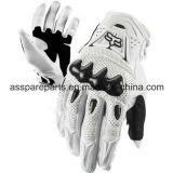 Белое волокно углерода качества резвится перчатки для всадника мотоцикла (MAG13)