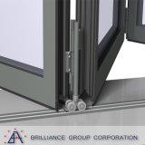 Дверь складчатости двойной застеклять алюминиевая с AS/NZS2047