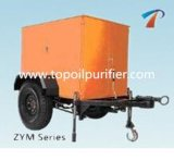 Machine mobile de filtres à huile de transformateur de remorque de pétrole (ZYM-150)