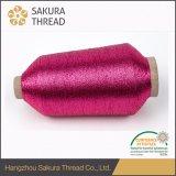 Hilado metálico con rayón de poliéster o viscosa para tejer