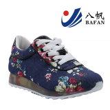 Тапка новой ткани цветка способа 2016 верхняя, вскользь ботинок женщины