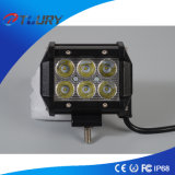 Indicatori luminosi di alluminio del lavoro della jeep LED dell'indicatore luminoso 18W SUV dell'automobile del LED