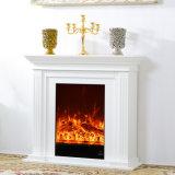 Mantel solide blanc de luxe antique français de cheminée en bois de chêne (GSP14-005)