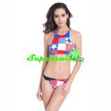 The USA National Flags Printed Tankini for Lady