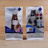 Sacchetto resistente di imballaggio per alimenti del gatto della Quadrato-Guarnizione con la chiusura lampo