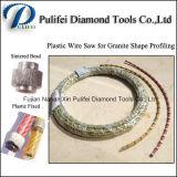 Perles de diamant frittées Scie en fil de diamant en plastique pour profilage de dalle circulaire en granit