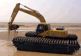 escavatore anfibio 33t con la benna 0.9m3