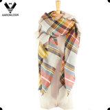 Lenço quadrado geral por atacado verific do xaile da grade do Tartan da venda manta Multicolor quente