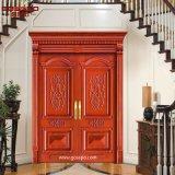 Appartement en bois massif sculpté Portes extérieures à double entrée (GSP1-003)