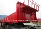 H: Semitrailer do Gooseneck da placa de 80cm com parede lateral