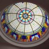 Sitio interior que construye la bóveda decorativa del techo del vidrio manchado de los materiales para la venta