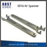 ツールを締め金で止める高い硬度Er16-Mのスパナーの締める物