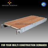 Tablón de aluminio del andamio de la madera contrachapada con capacidad de cargamento fuerte