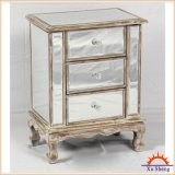 Hauptspeicher-Enden-Tisch der möbel-3-Drawer antiker widergespiegelter