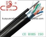 Câble extérieur d'acoustique de connecteur de câble de transmission de câble de caractéristiques de câble du fil +Pejacket/Computer de Ftpcat6 +1.3steel