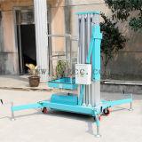 plataforma hidráulica de aluminio de la elevación del trabajo 8meters (GTWY8-100 azules claros)