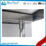 Tableau robuste renforcé par étagère ronde de travaux de construction de tube d'acier inoxydable avec la couche de mémoire avec la patte réglable de hauteur à vendre