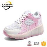 Chaussure 2016 de vente chaude de sport de gosses d'usine de la Chine avec 7 chaussures uniques des chaussures DEL d'éclairage LED