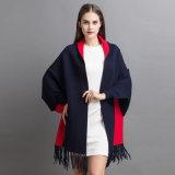 Кашемир способа женщин связал окаимленную зимой шинель шали (YKY2022)