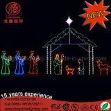 屋外の装飾のための防水LEDのクリスマスの誕生場面ロープライトモチーフ